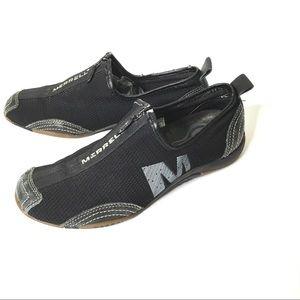 Merrell Barrado Black Mesh Leather Slip Ons